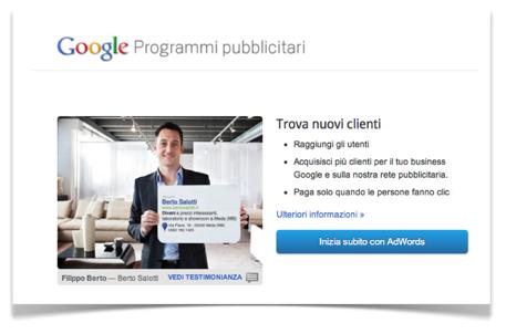 Filippo Berto testimonial di Google