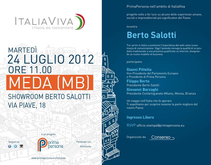 Italia Viva incontra BertO Salotti