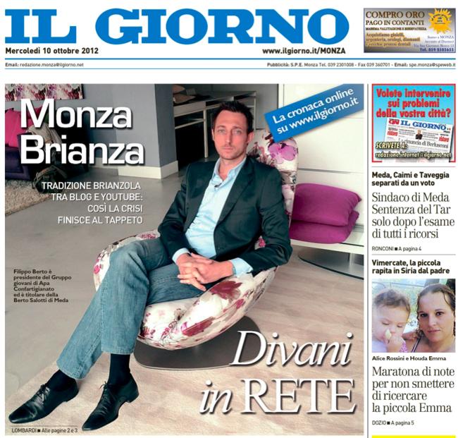 Intervista a Filippo Berto su Il Giorno
