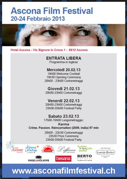Berto Salotti sponsor di Ascona Film Festival