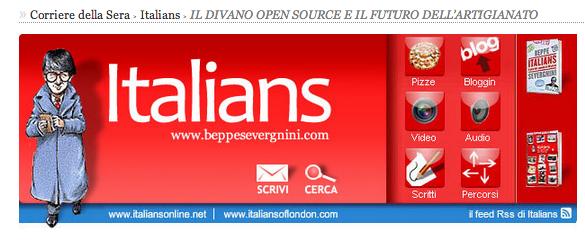 Il blog di Beppe Severgnini parla del divanoxmanagua di Berto Salotti
