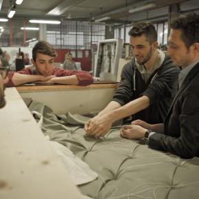 Filippo Berto con studente artigiano