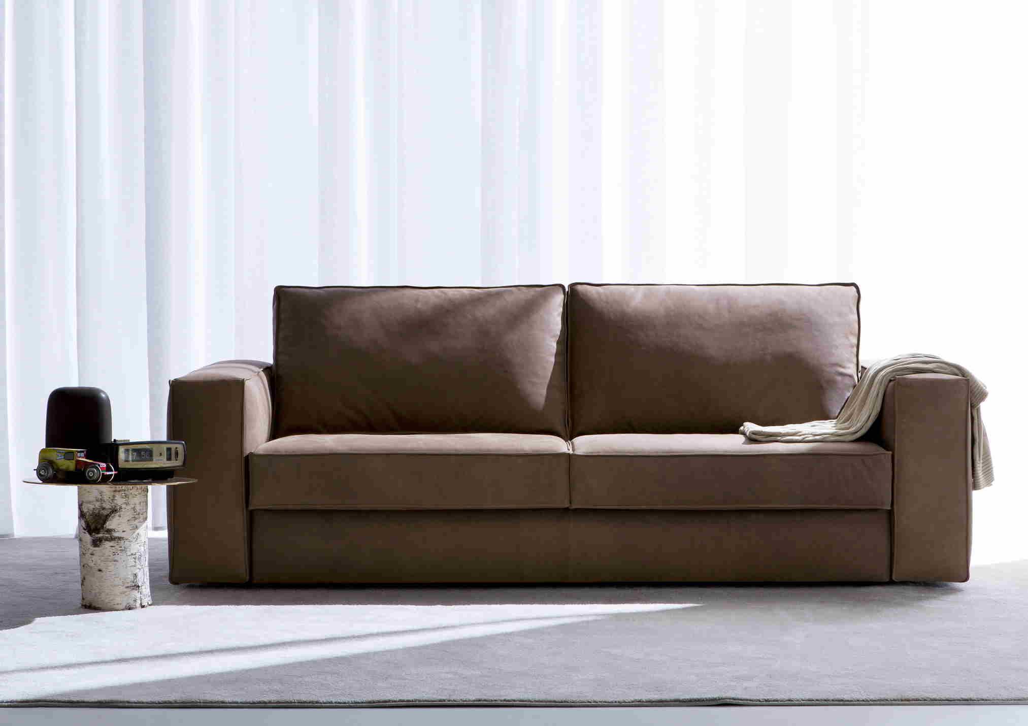 divano letto in pelle nemo