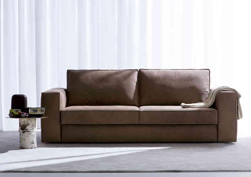 Canapé-lit deux places en cuir Nemo