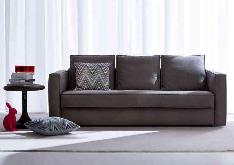 Canapé-lit en cuir Robinson