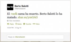 Sofa Cama Berto Tweet