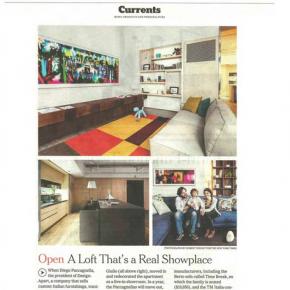 Berto sur le New York Times avec Design-Apart