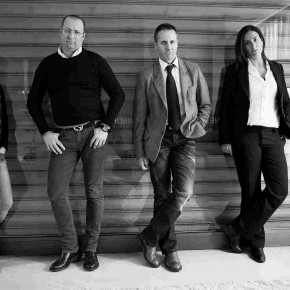 Emilia, Maurizio, Carlo, Arianna. Interior designers Berto