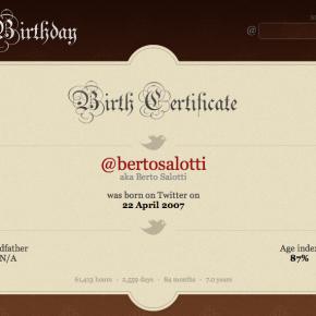 7 anni di Twitter per Berto Salotti