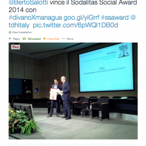 Berto vince con #divanoXmanagua premio Sodalitas