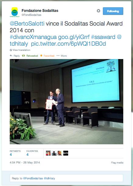 Beto wins Sodalitas Social Award with #divanoXmanagua