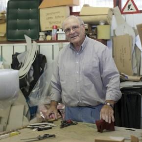 Carlo Berto, co-fondateur et tapissier