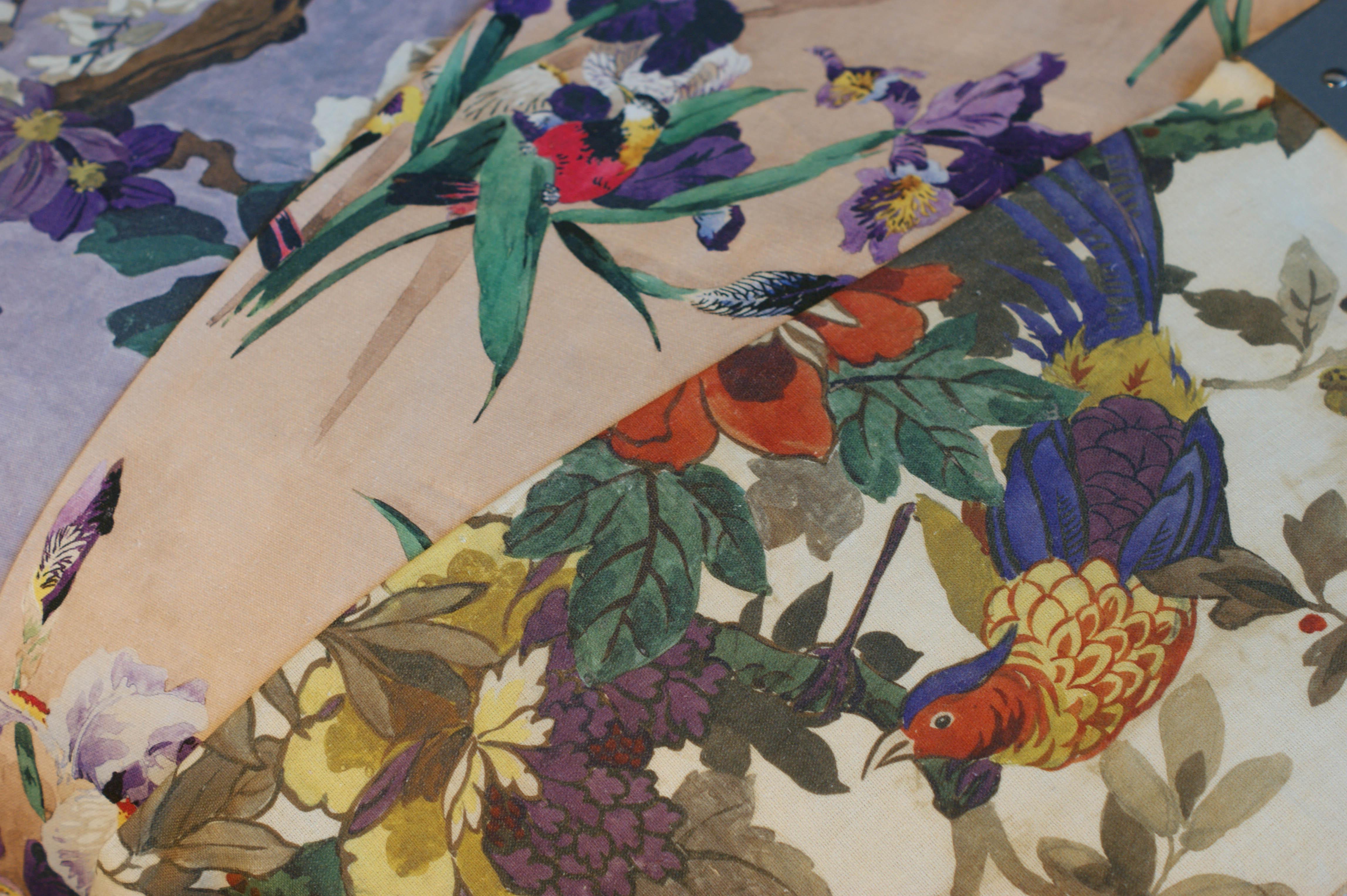 Etro tessuto stampato art. Robin Verde Mare
