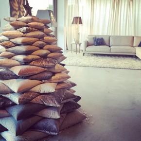 Albero di Natale con cuscini di velluto BertO