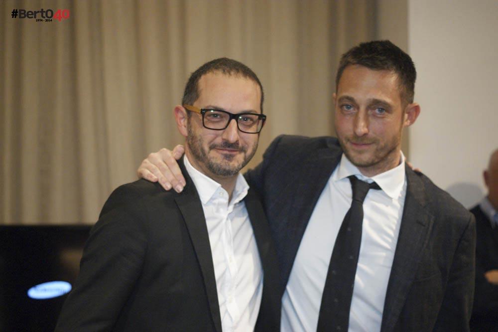 Fabio Asnaghi e Filippo Berto alla festa #BertO40