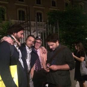 Diego Paccagnella, Filippo Berto, Ernesto Capobianco e Stefano Sala al Manhattan Party
