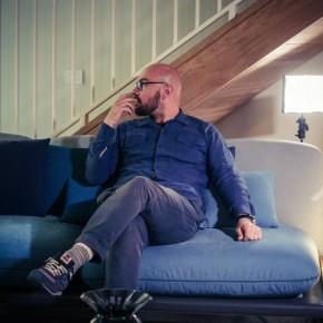 Luca Nichetto alla presentazione della Collezione Sofa4Manhattan