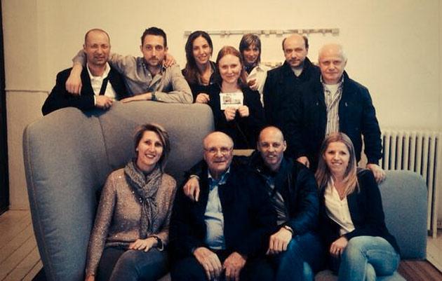 Elisa Novara e lo staff berto alla presentazione di Sofa4manhattan nel 2014