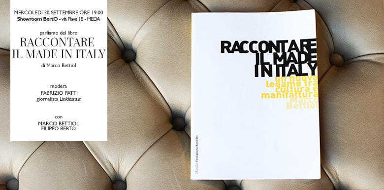marco bettiol presenta il libro Raccontare il Made in Italy nella Tappezzeria sartoriale BertO