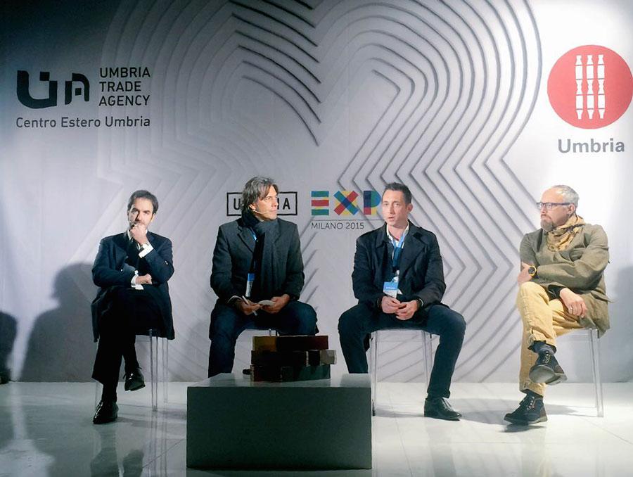Filippo Berto con Giulio Iacchetti, Mauro Franceschini e Giorgio Tartaro