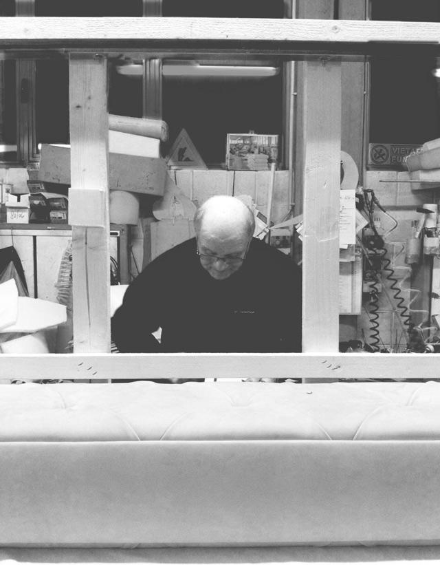 Carlo Berto lavora al secondo DivanoxManagua