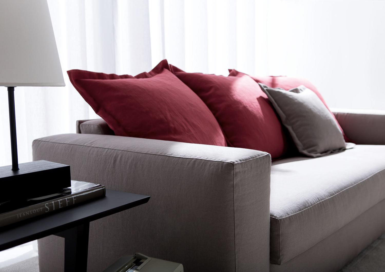 Cuscino con volant schienale divano letto passepartout