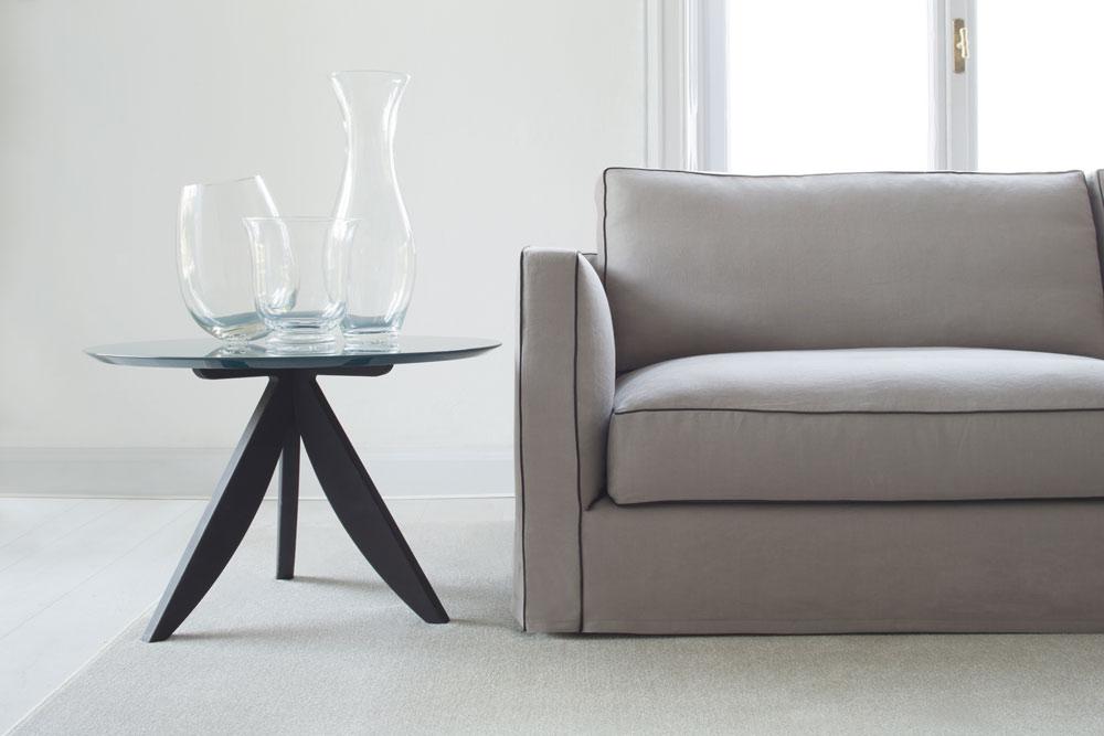 Modernes Sofa mit Leinenbezug Danton