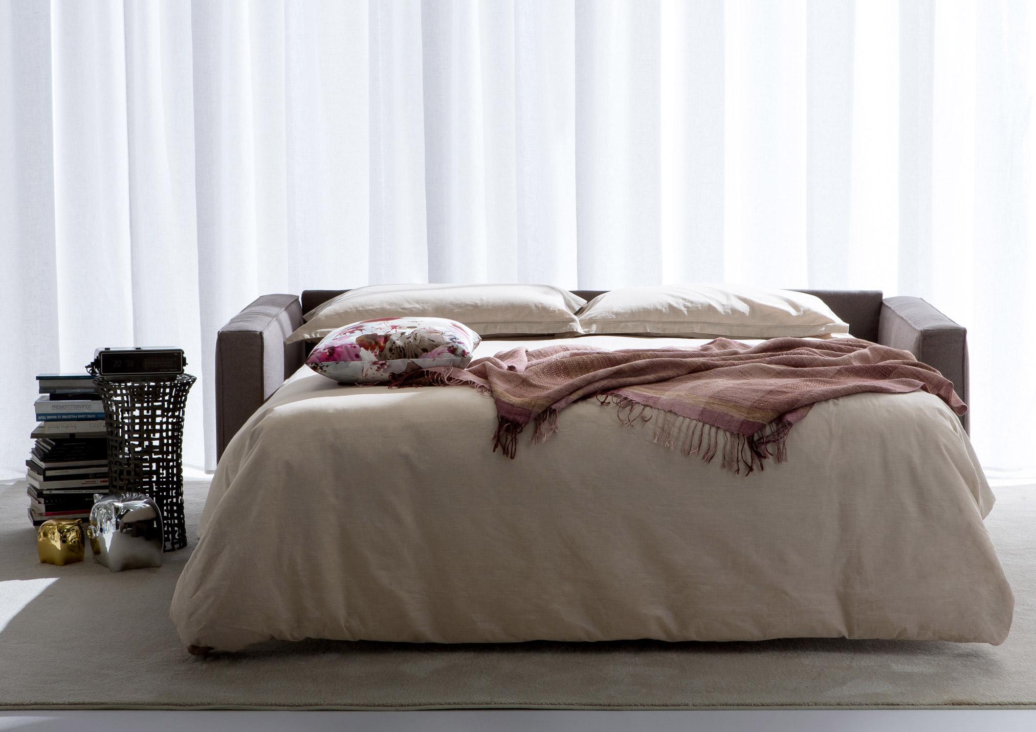 divano letto gulliver aperto uso quotidiano