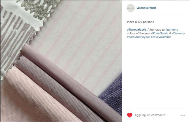 Collezione tessuti villa nova su instagram
