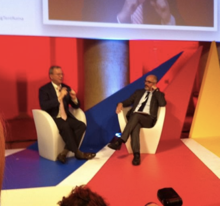 Stefano Micelli e Eric Schmidt Big Tent Roma 2013