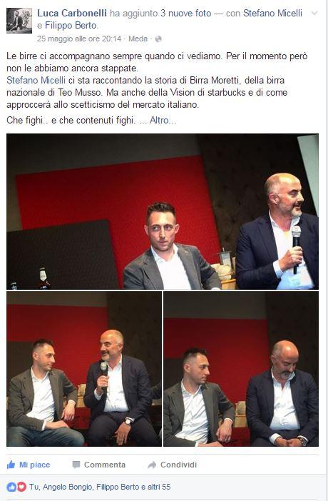 Luca carbonelli alla presentazione di Fare è innovare di Stefano Micelli