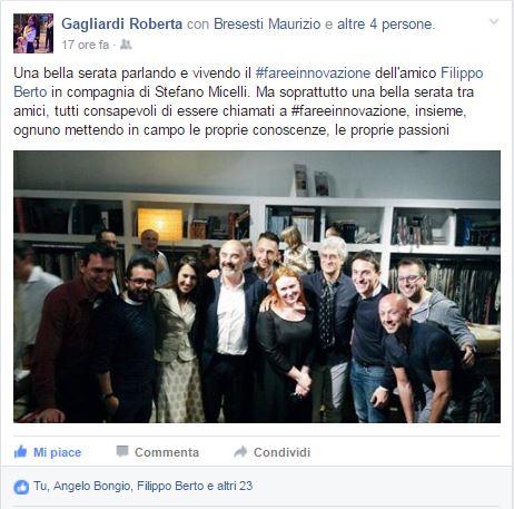 Roberta Gagliardi alla presentazione di Fare è innovare di Stefano Micelli
