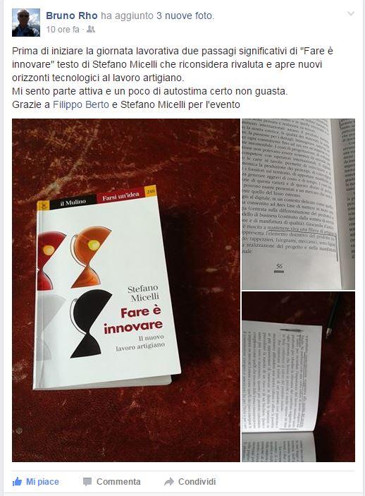 Bruno rho alla presentazione di Fare è innovare di Stefano Micelli