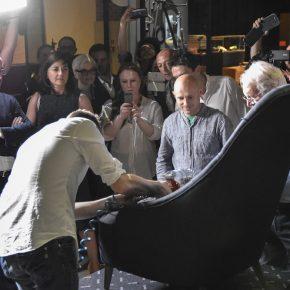 Filippo Berto invecchia il denim di vanessa4newcraft