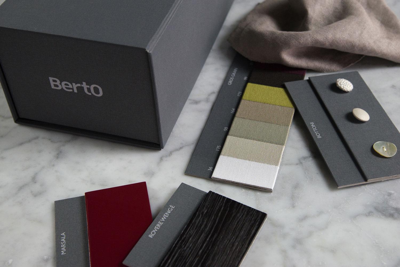 Box Sartoriale BertO dedicato ad architetti e professionisti con campioni finiture