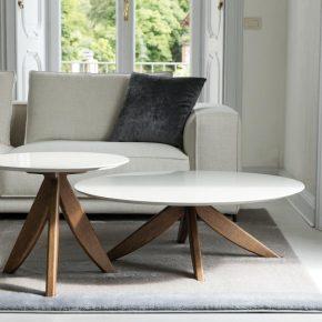 Tavolino da salotto di design con gambe in legno Circus