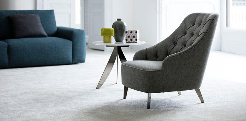 emilia capitonné modern armchair