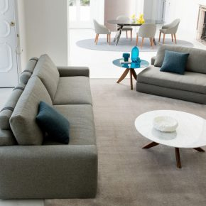 joey sectional sofa with removable chaise longue and Judy chairs