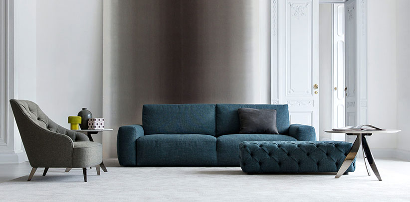 Johnny Sofa aus stoff monoblock