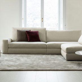 Sofa Joey aus stoff mit hohen und niedrigen Rueckenlehnen
