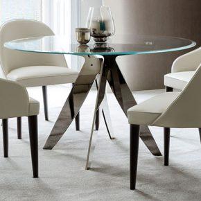 Tisch runder Ring aus Glas