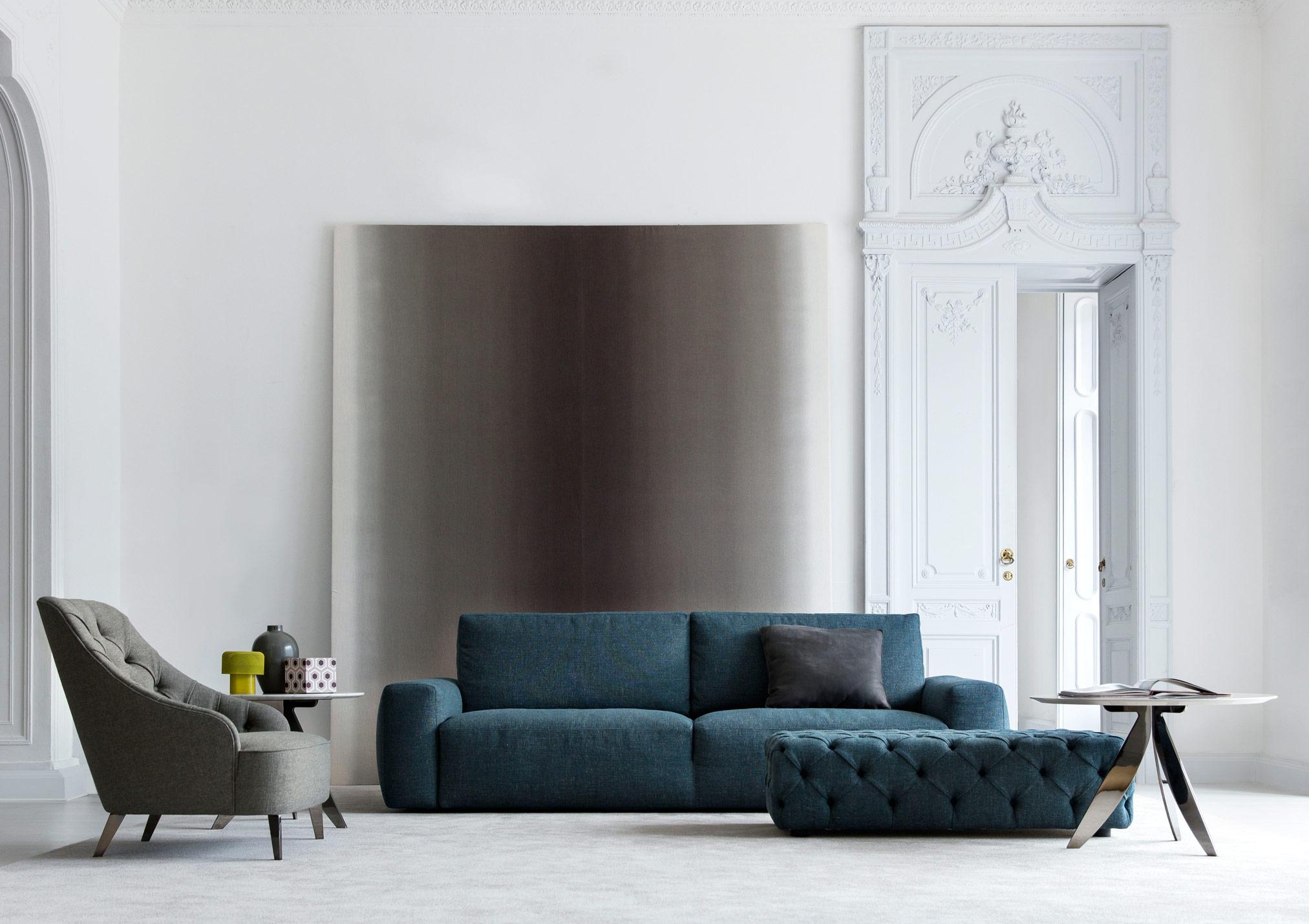 divano moderno johnny tessuto lineare sfoderabile