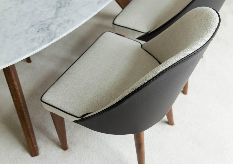 Stuhl Judy aus Stoff Leder