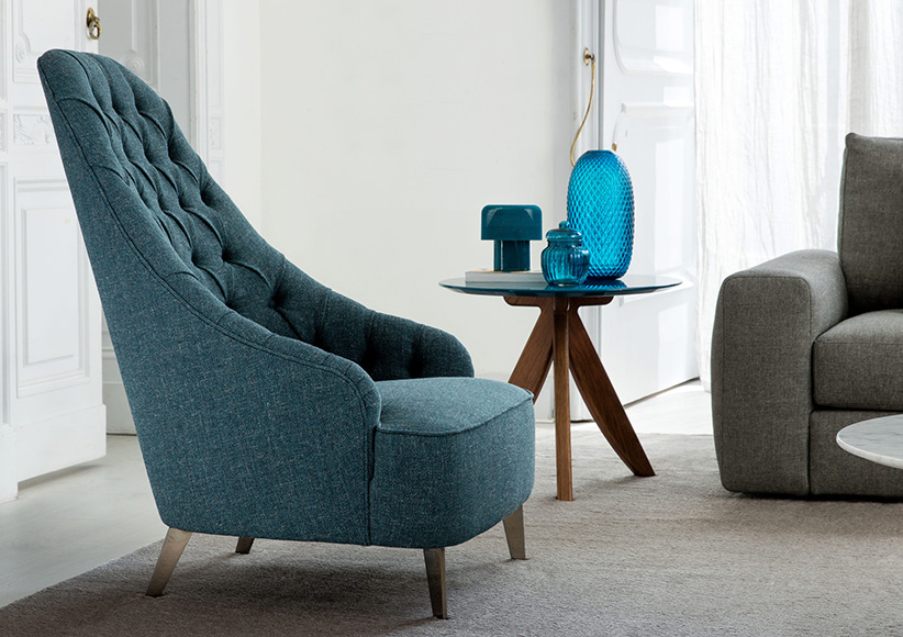 Vanessa Capitonné Armchair berto salotti furniture collection