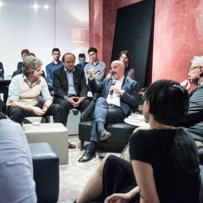 Stefano Micelli alla presentazione Maker di Stefano Schiavo