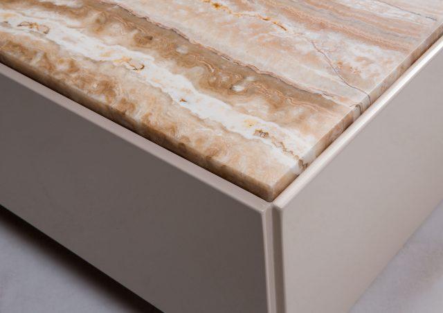 tavolino Stage con piano in marmo