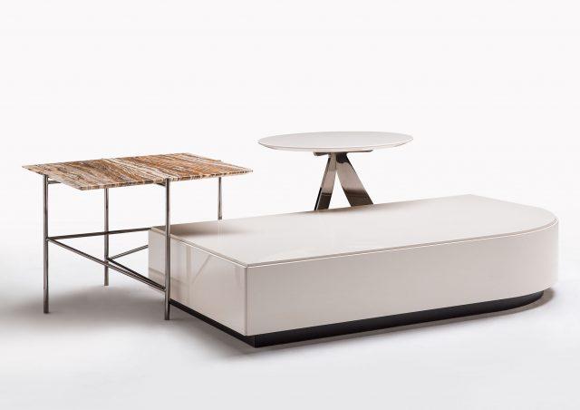 tavolini da salotto in marmo e laccati