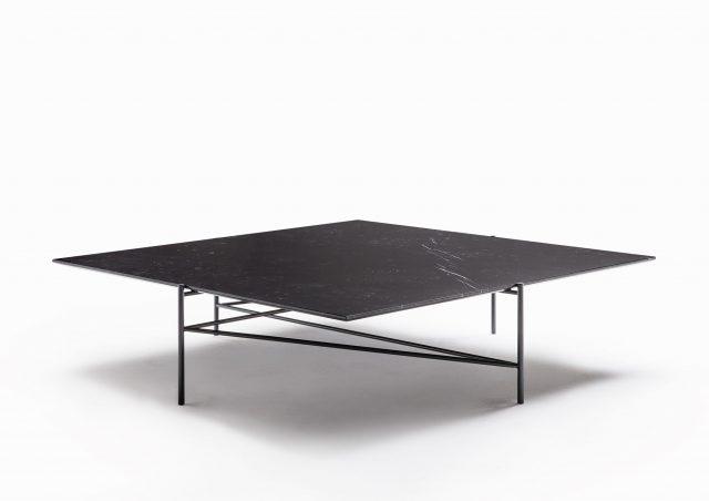tavolino da salotto quadrato con piano in marmo riff