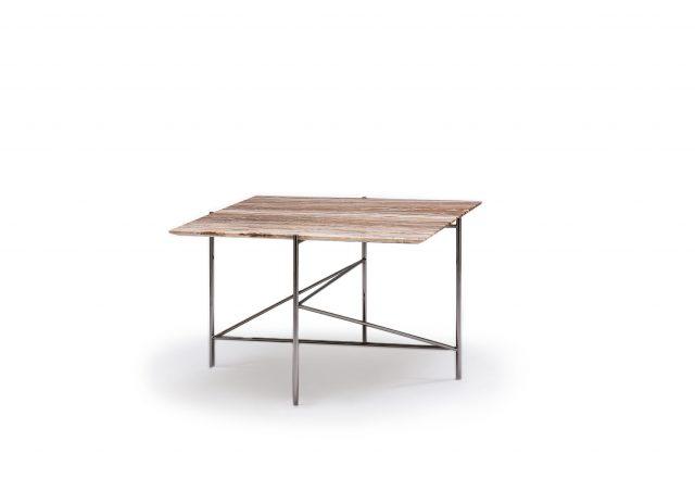 Tavolino da salotto quadrato Riff in marmo onice travertino