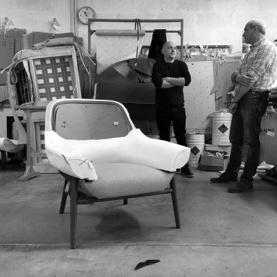 Prototipazione poltrona hanna laboratorio BertO